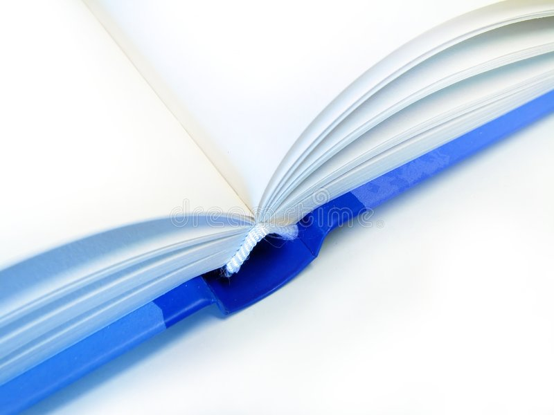 Blue book. Open blue book, isolated on white background stock image
