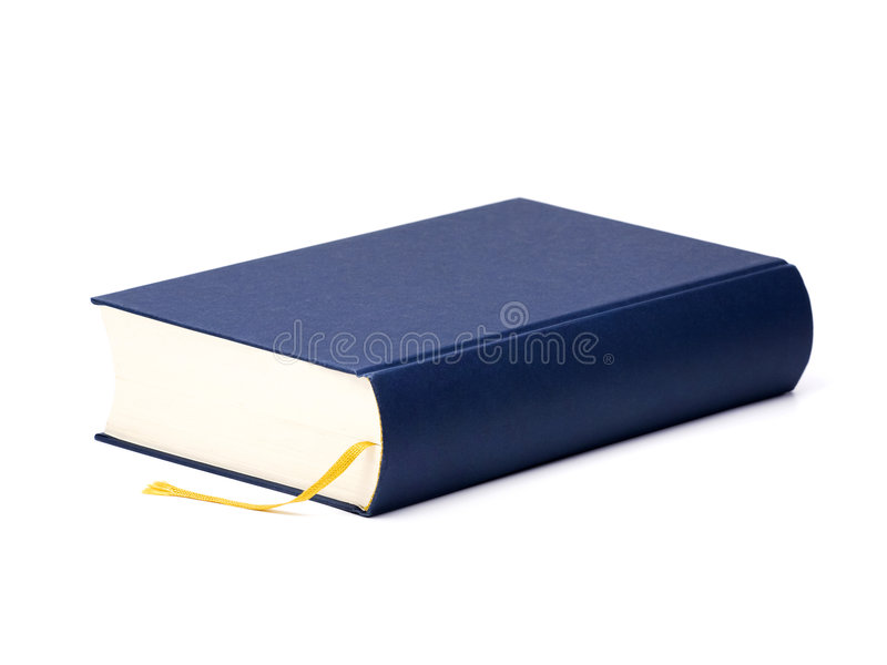 Blue book with blank cover stock photography