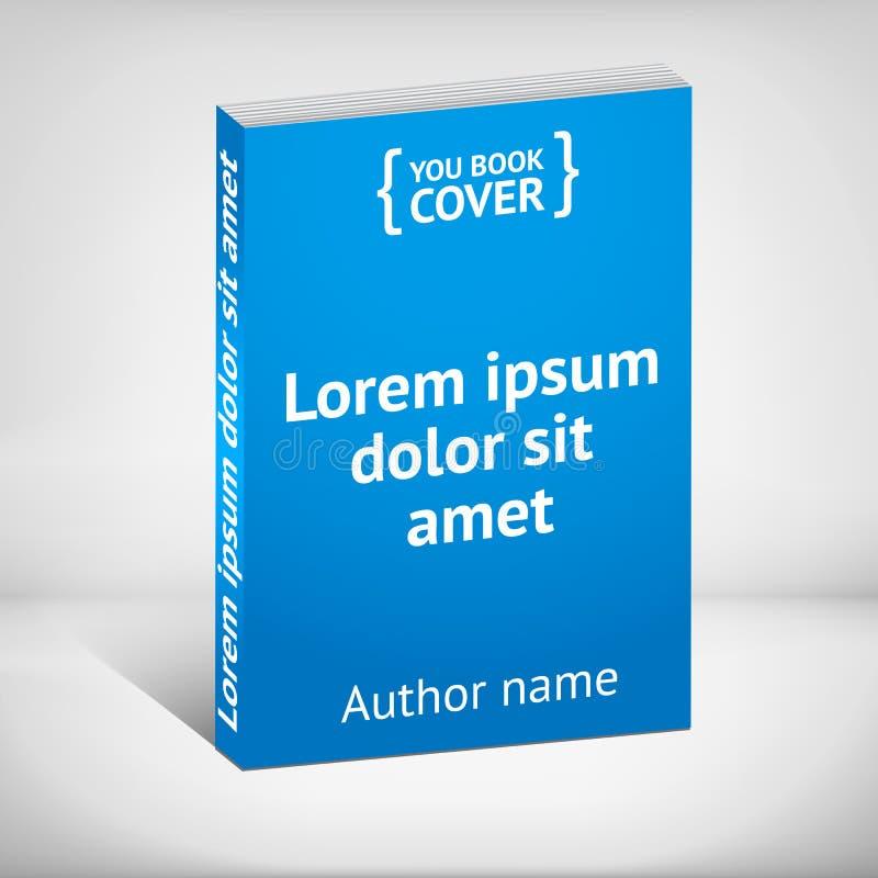 Blue book cover over white background vector illustration