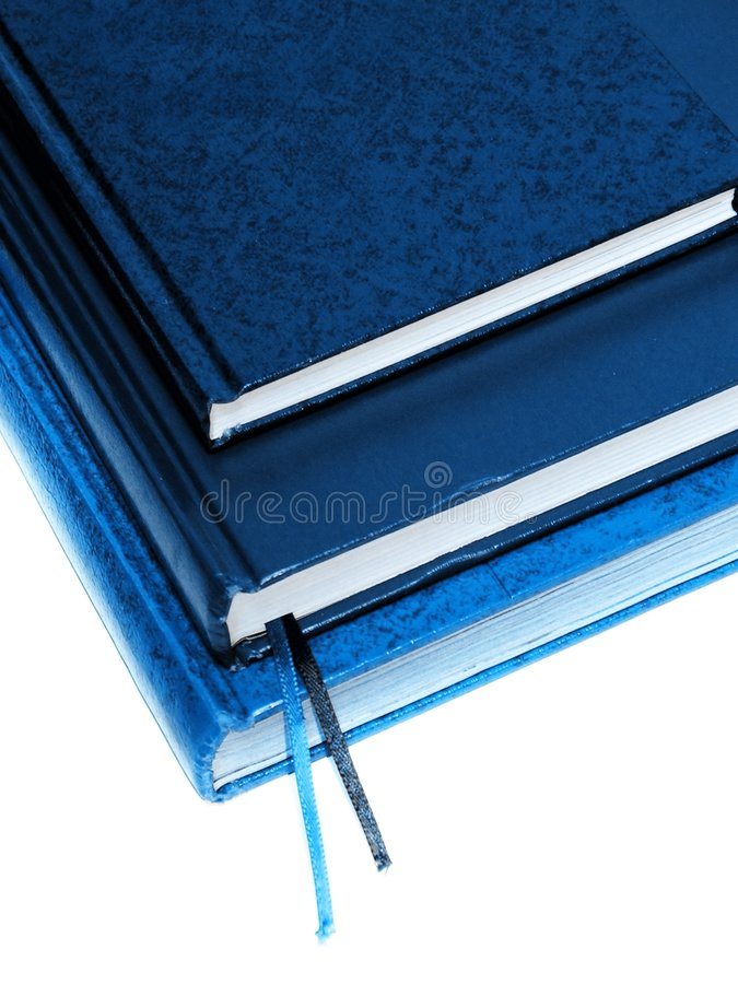 Blue books royalty free stock images