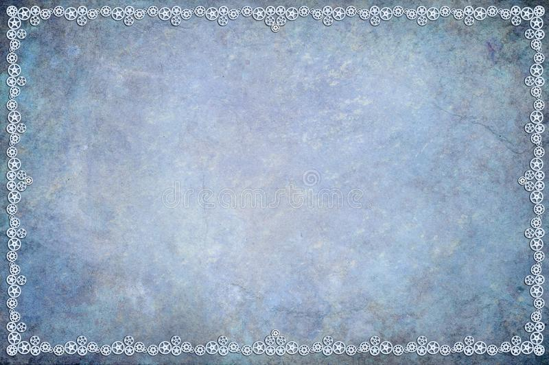 Blue Steampunk Background stock illustration