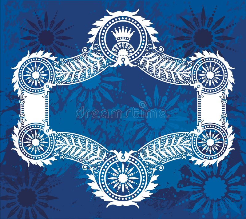 Download Blue border illustration stock vector. Image of flowers - 3318377