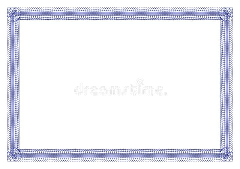Blue Border outline styles for certificate royalty free stock photography