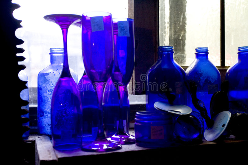 Download Blue Bottle stock photo. Image of glass, drink, blue, antiques - 118206