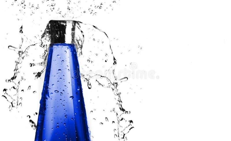 Blue Bottle Splash royalty free stock image