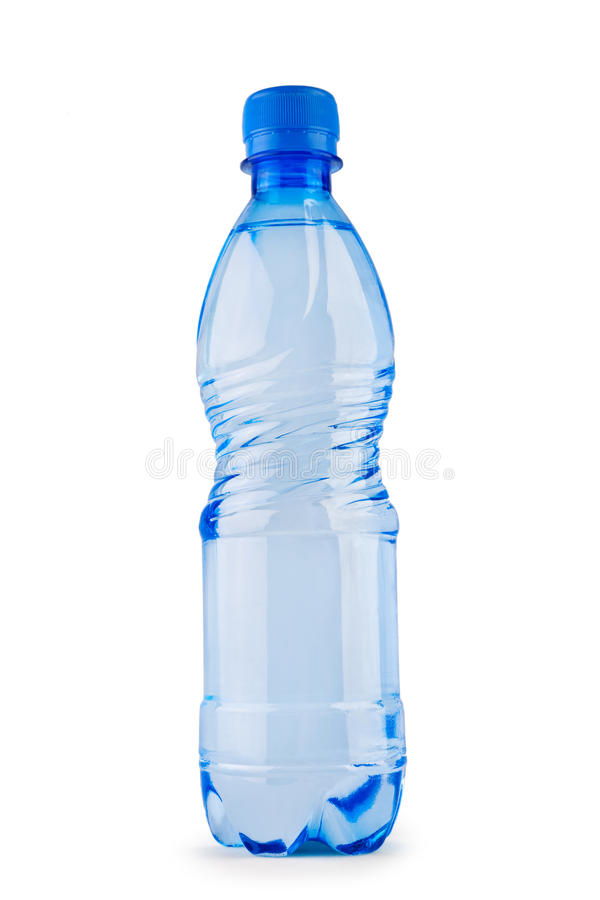 Download Blue Bottle Of Water Isolated On White Stock Image - Image: 12636737