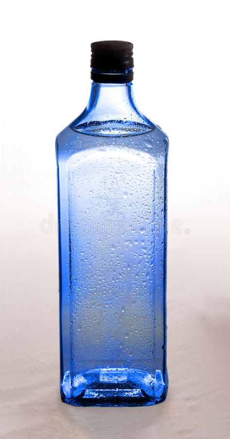Free Blue Bottle With Gin Stock Image - 13040391