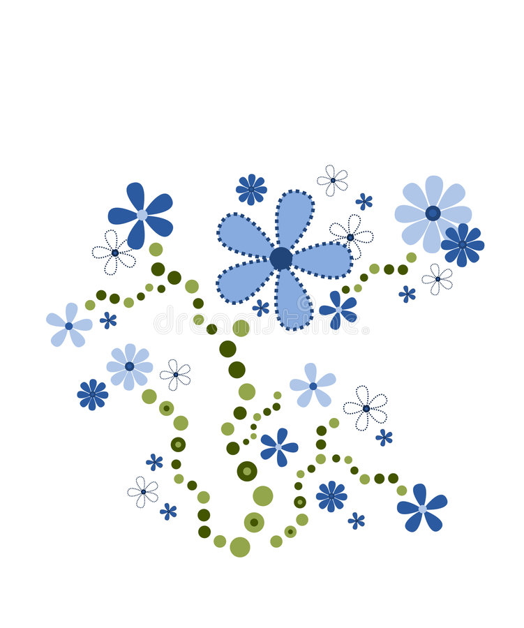 Download Blue bouquet stock vector. Image of deco, illustration - 2250019