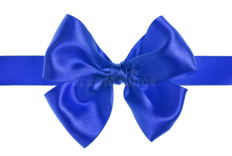 Download Blue bow stock photo. Image of shine, bauble, birthday - 11964224