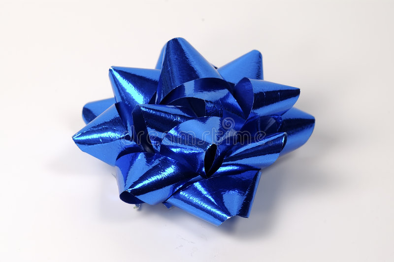 Download Blue Bow stock image. Image of holiday, birthday, deorate - 13883