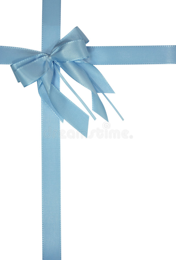 Free Blue Bow Royalty Free Stock Photography - 3346427