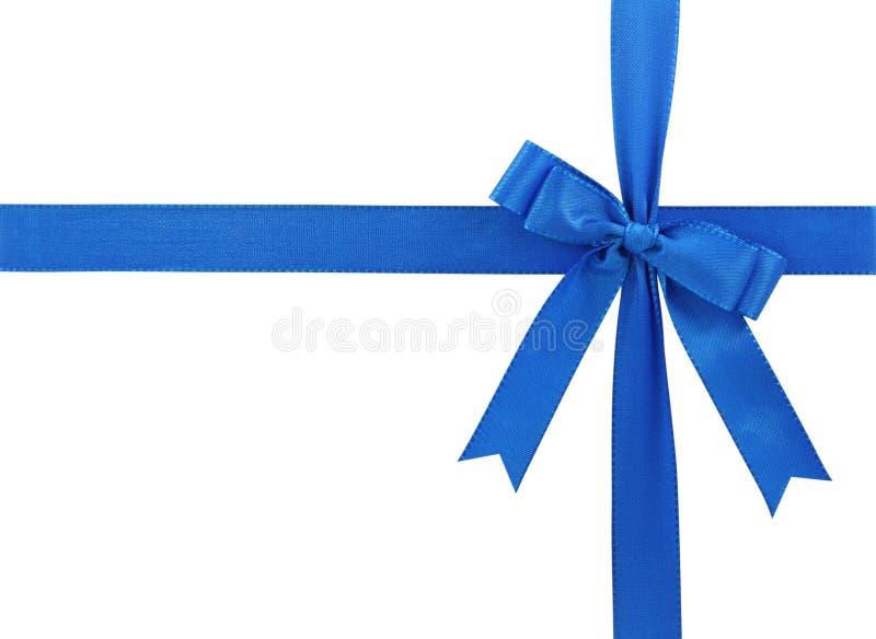 Blue bow royalty free stock photos