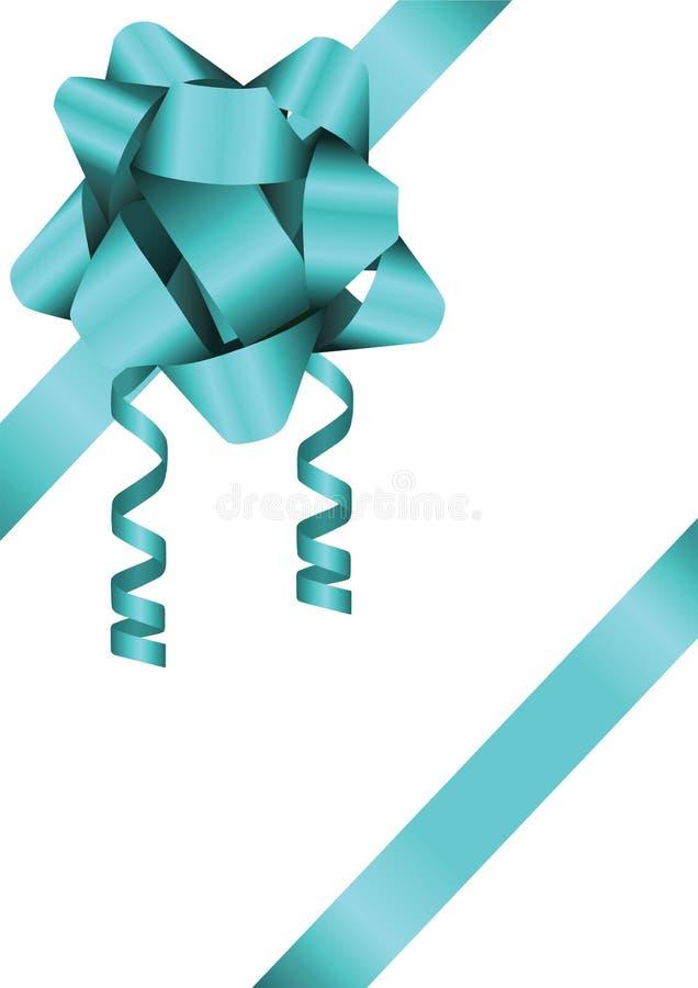 Blue Bow Illustation stock photo