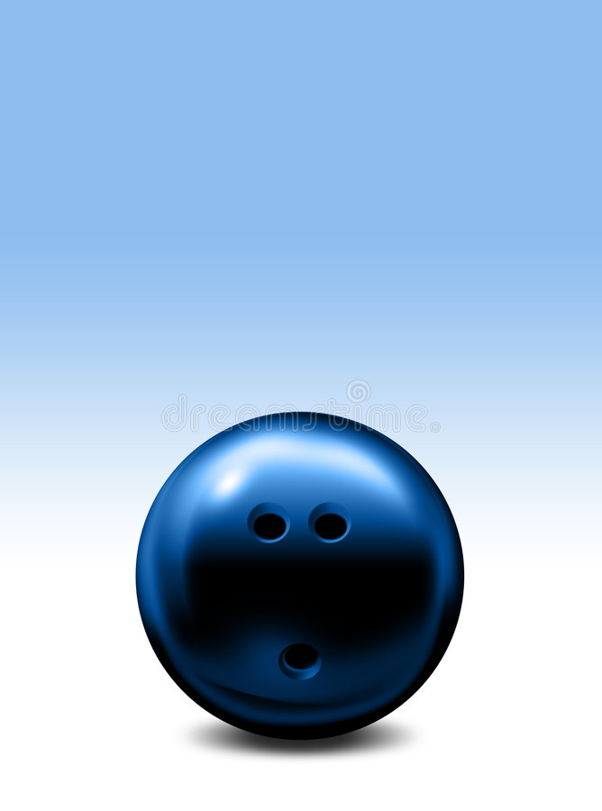 Download Blue Bowling ball stock illustration. Illustration of competition - 8057842