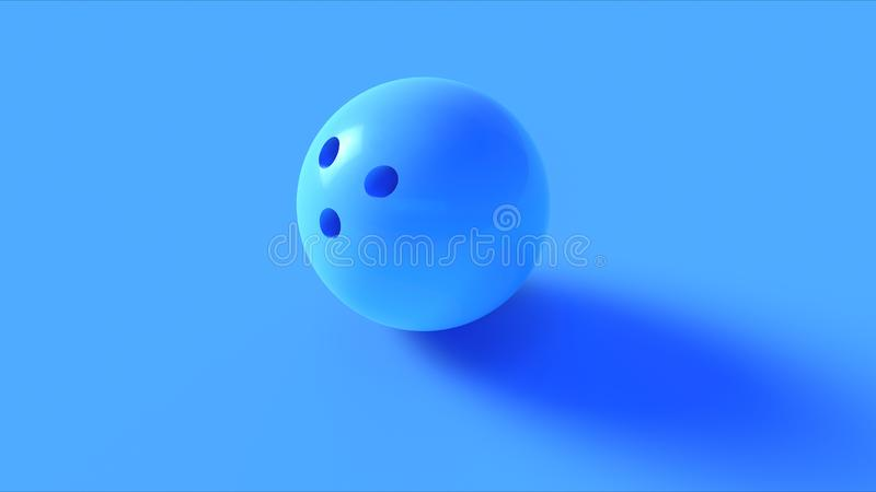 Blue Bowling Ball. 3d illustration 3d rendering stock photo