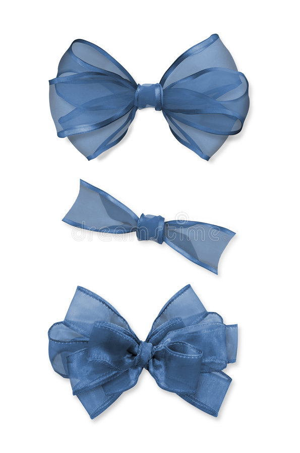 Blue Bows stock image