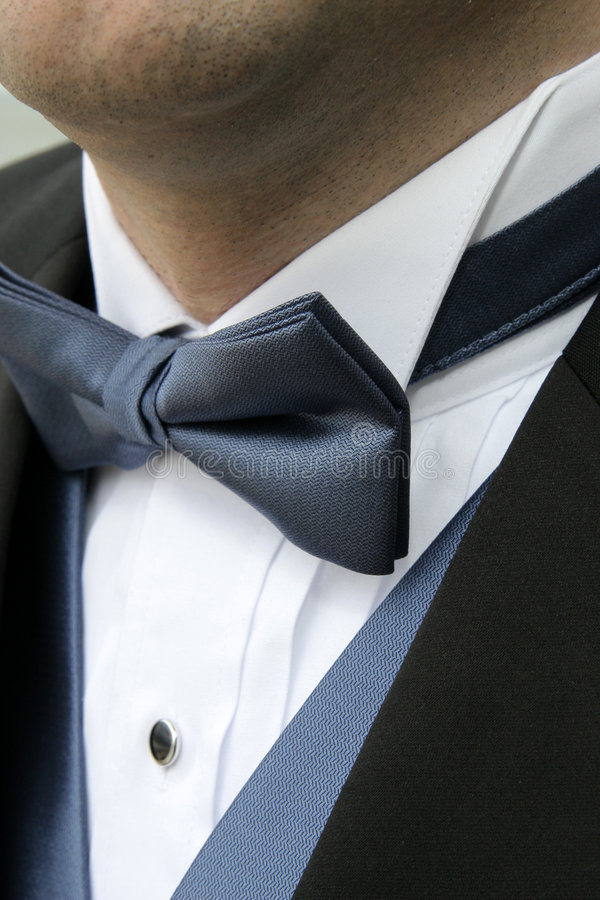 Blue Bowtie royalty free stock photography