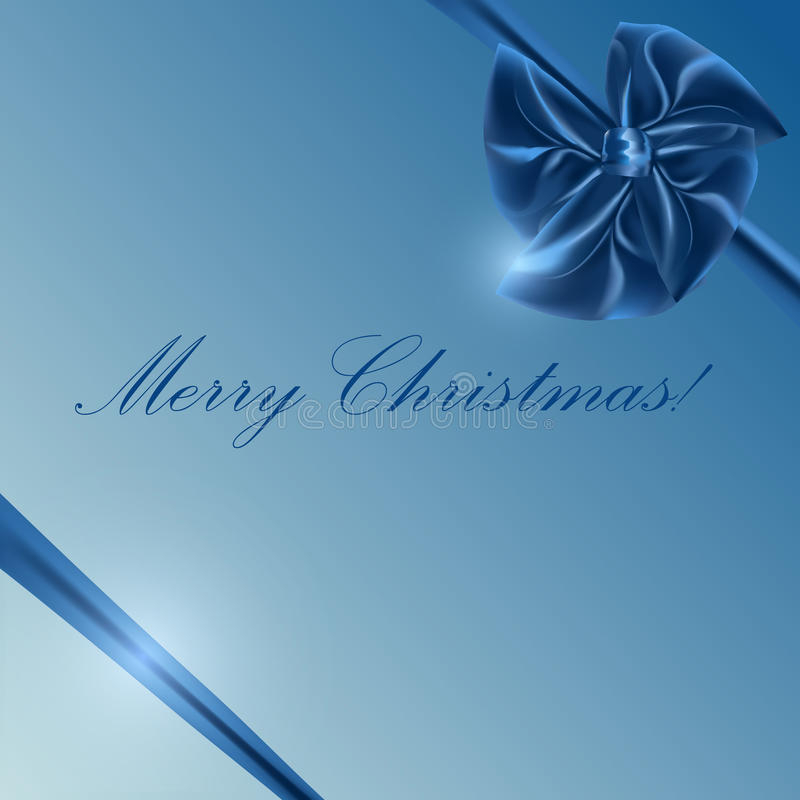 Blue box with bow and ribbon royalty free stock images