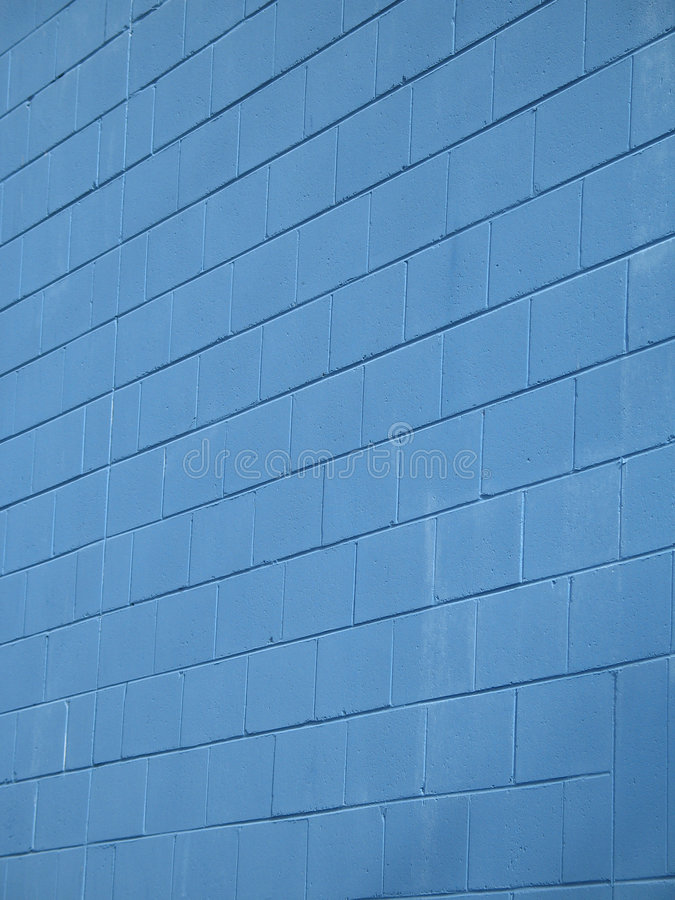 Download Blue brick wall stock image. Image of building, tall, architecture - 5028775