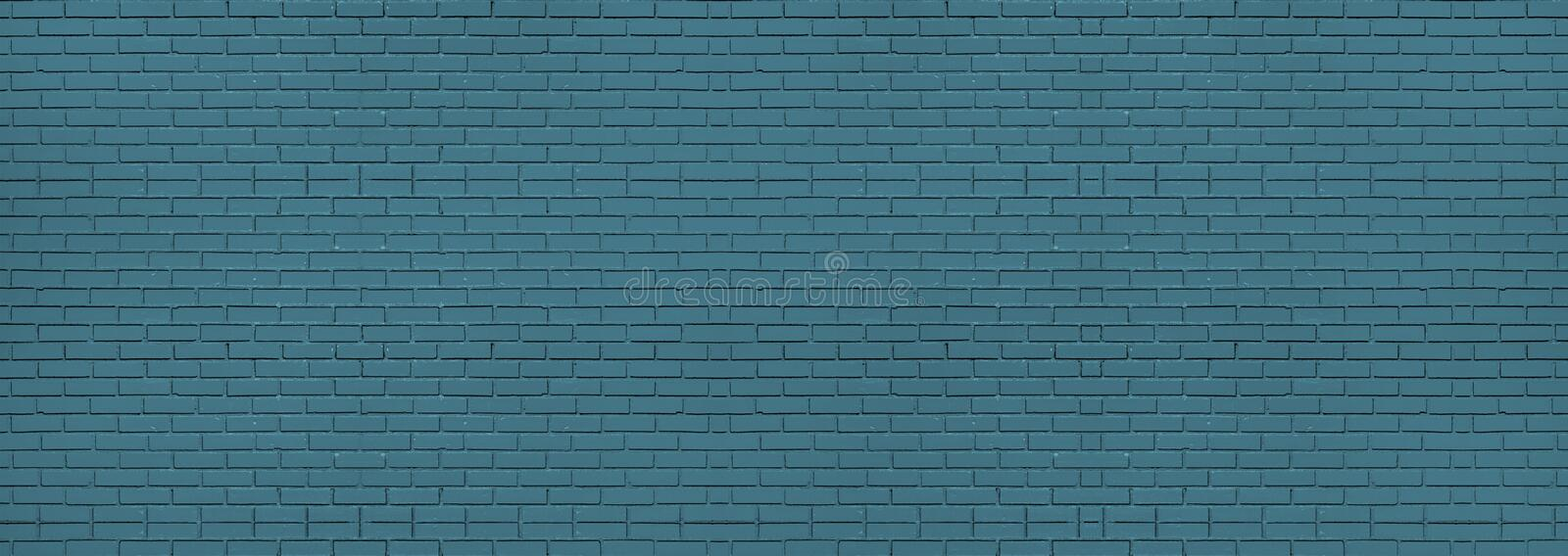 Blue brick wall background and texture. Wallpaper , pattern stock image