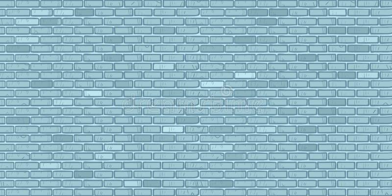 Blue brick wall vector illustration