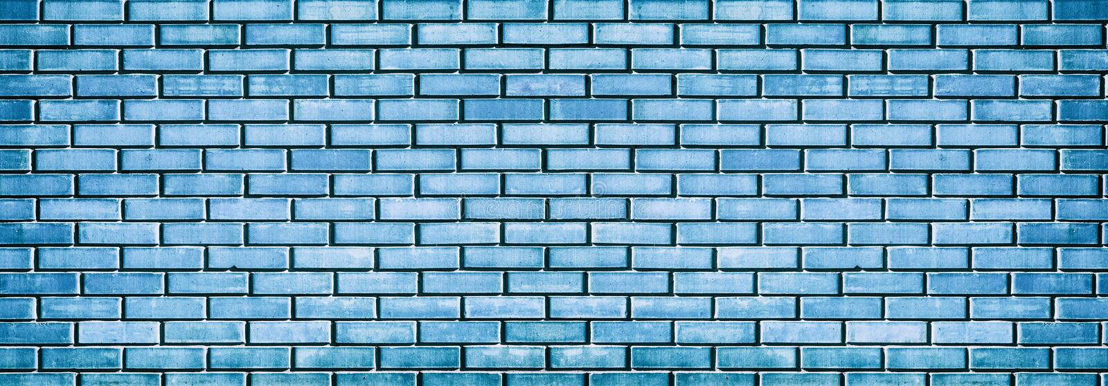 Grunge blue brick wall texture stock image