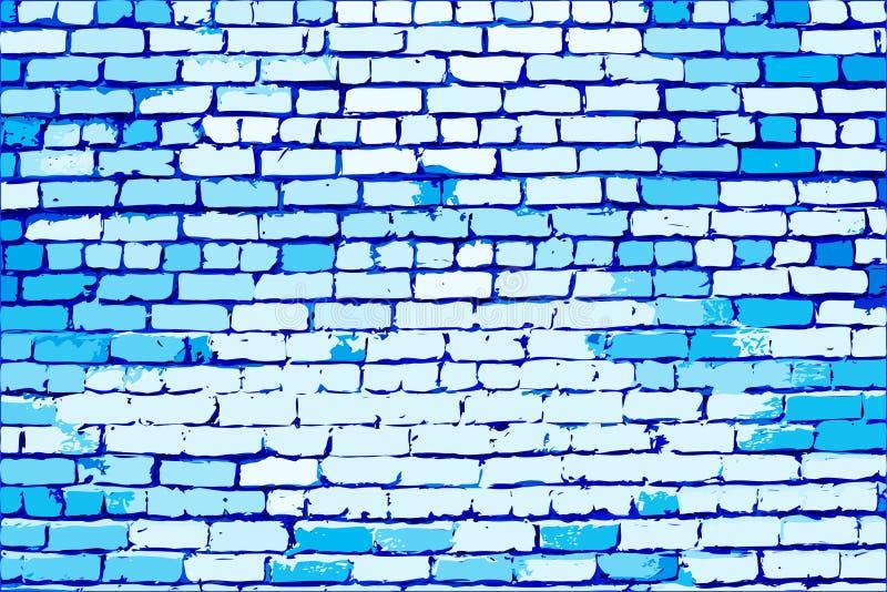 Blue brick wall royalty free illustration