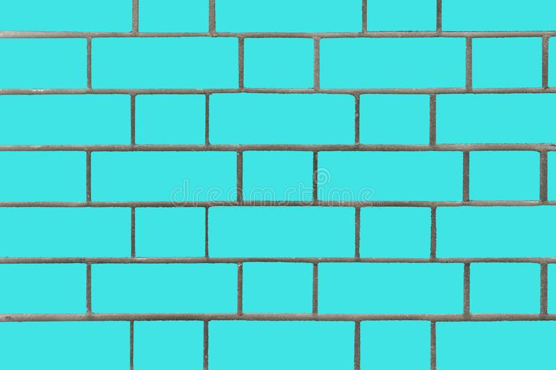 Blue brick wall. Vector graphics. Background image of a brick wall. royalty free stock photography