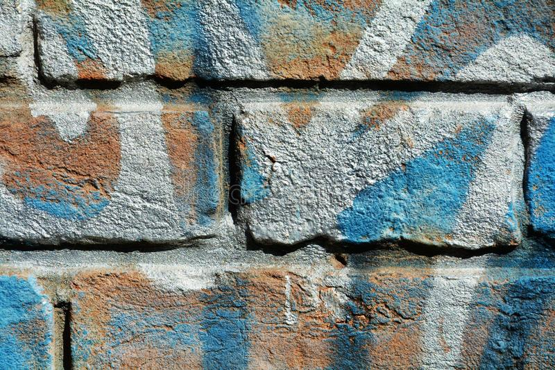 Blue bricks in Venice, background stock photography