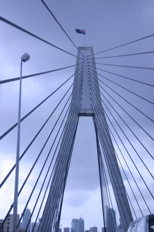 Blue Bridge and city stock photos