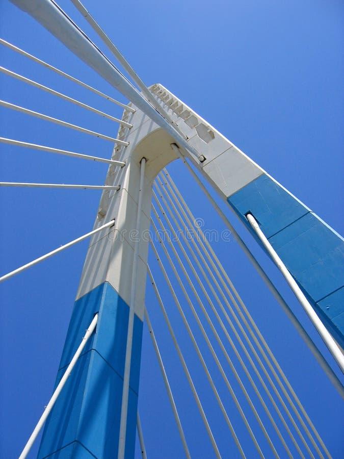 blue bridge sky marbella landmark spain stock images