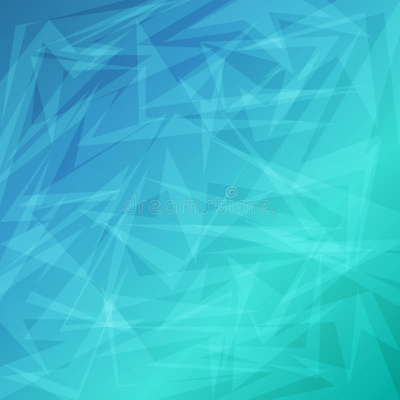 Blue bright abstract geometric background for business stock illustration