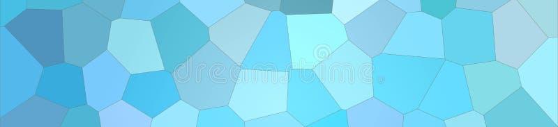 Blue bright Big Hexagon in banner shape background illustration. Blue bright Big Hexagon in banner shape background illustration stock illustration