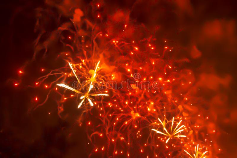 Red violet bright blurred fireworks effect abstract colorful background holiday. Blue bright blurred fireworks effect abstract colorful background holiday stock images