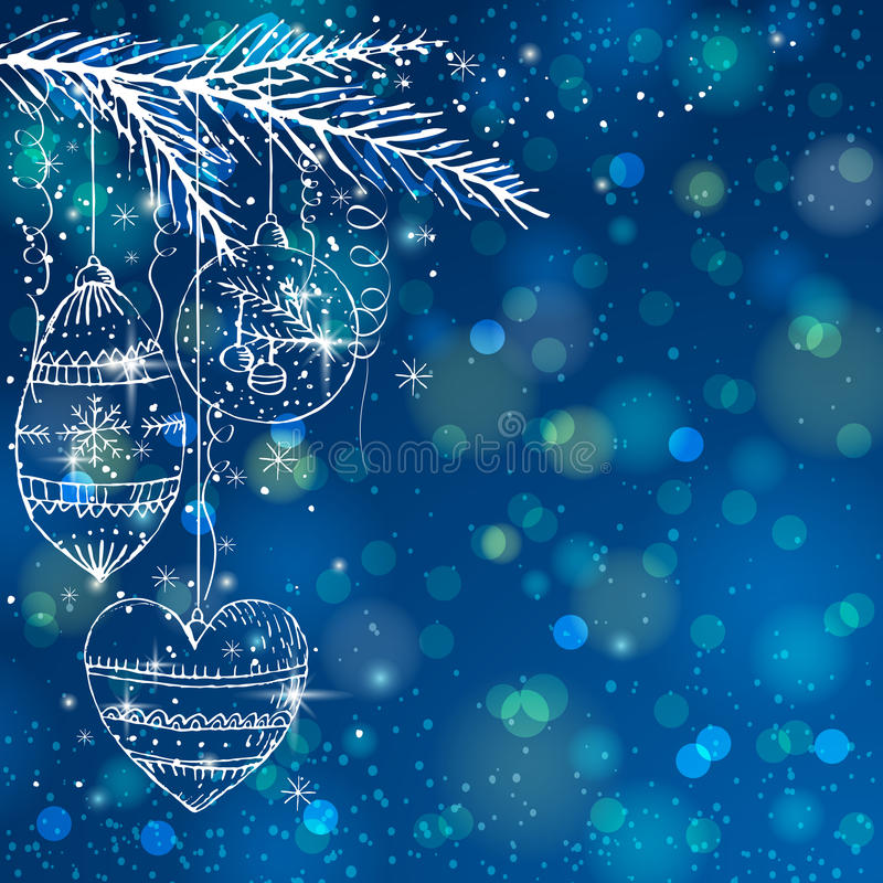 Free Blue Brightness Background With Christmas Balls, Stock Photo - 34419310