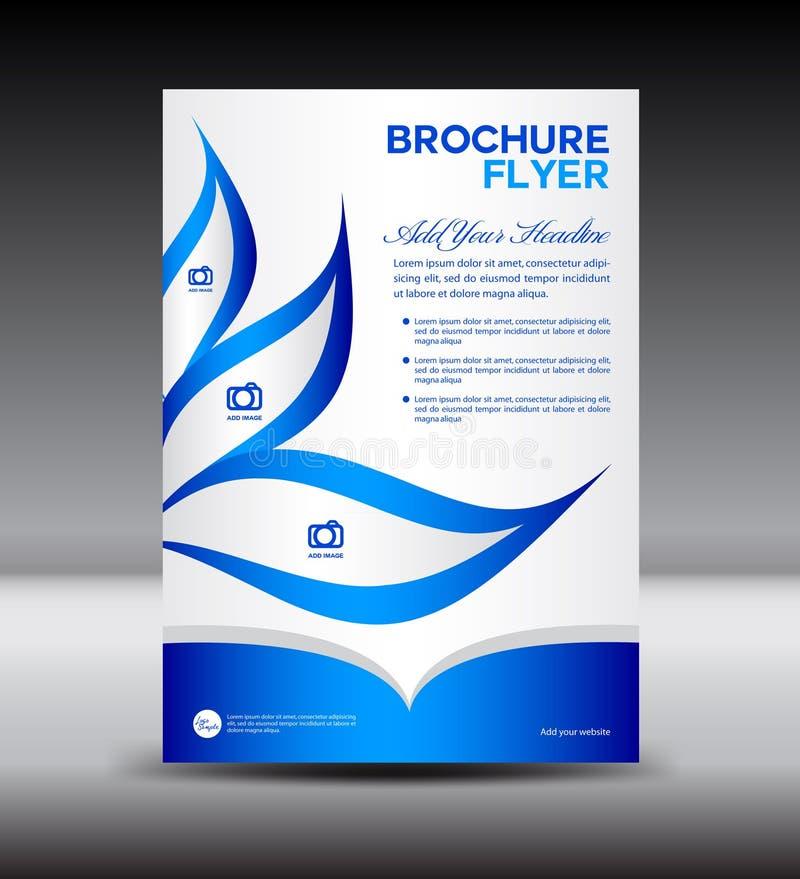Blue Brochure flyer template,newsletter design, Leaflet template. Layout design,vector stock illustration