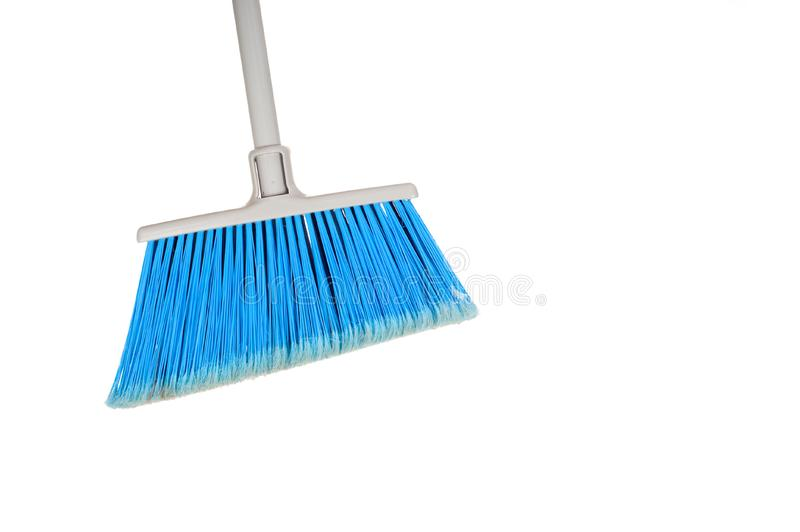 A blue Broom royalty free stock image