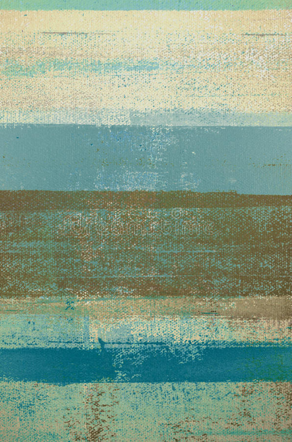 Blue and Brown Abstract Art Painting royalty free stock images