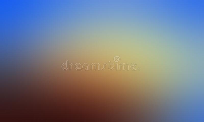 Blue and brown pastel colors abstract blur background wallpaper, vector illustration. stock illustration