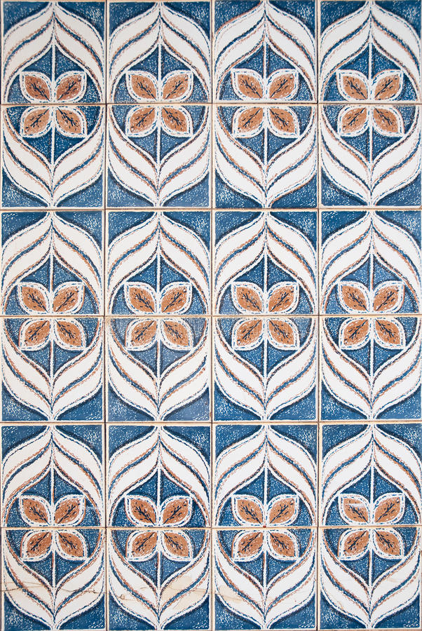 Blue and brown pattern stock image