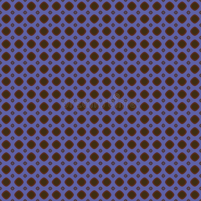 Blue and brown pattern stock illustration