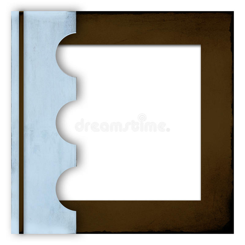 Blue and brown photo album cover stock photos