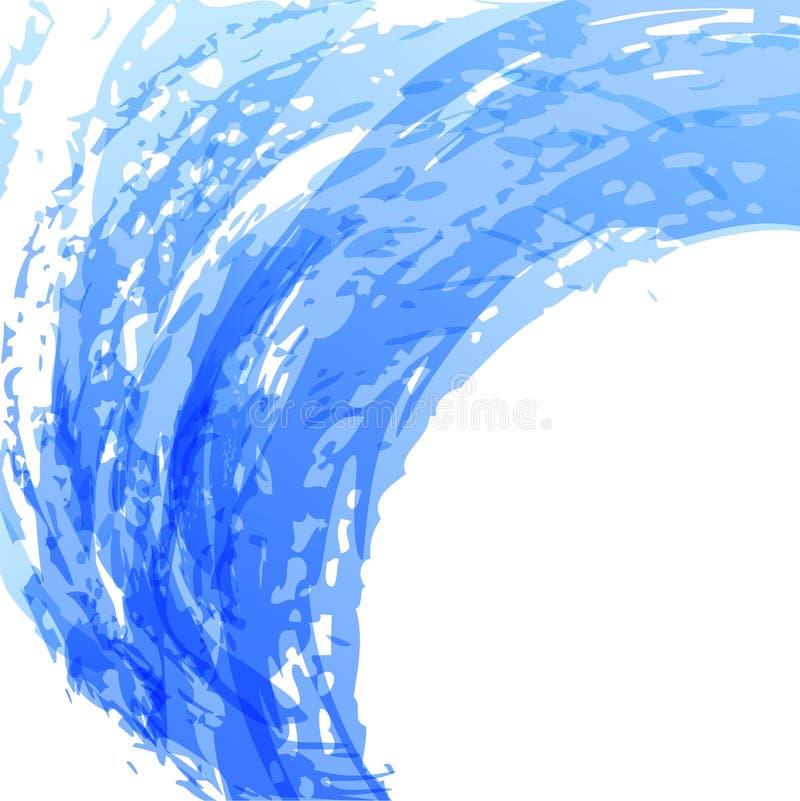 Blue Brush Background Stock Image