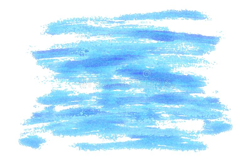 Blue brush strokes background as painted. Vector illustration royalty free illustration