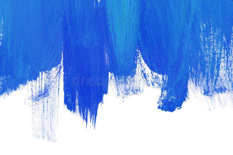 Blue brush strokes. Blue paint brush strokes on white as a background stock photography