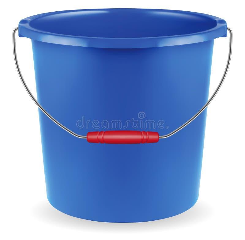 Blue bucket royalty free illustration