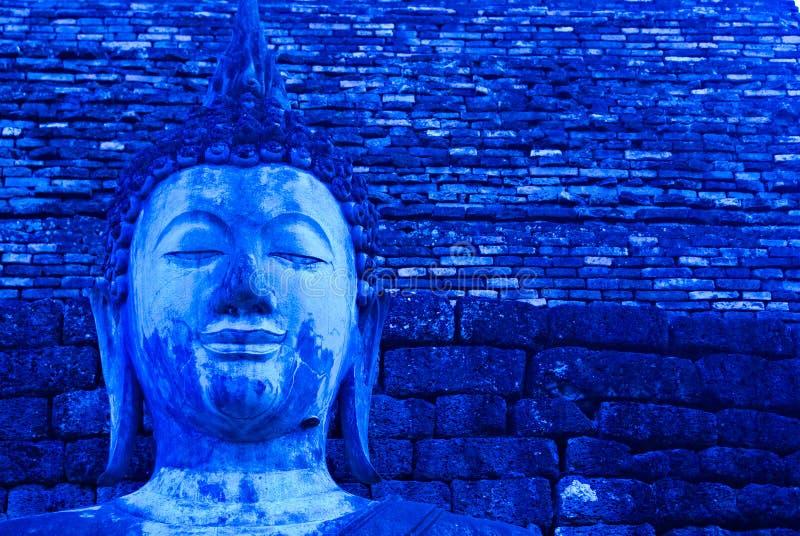 Blue Buddha royalty free stock image