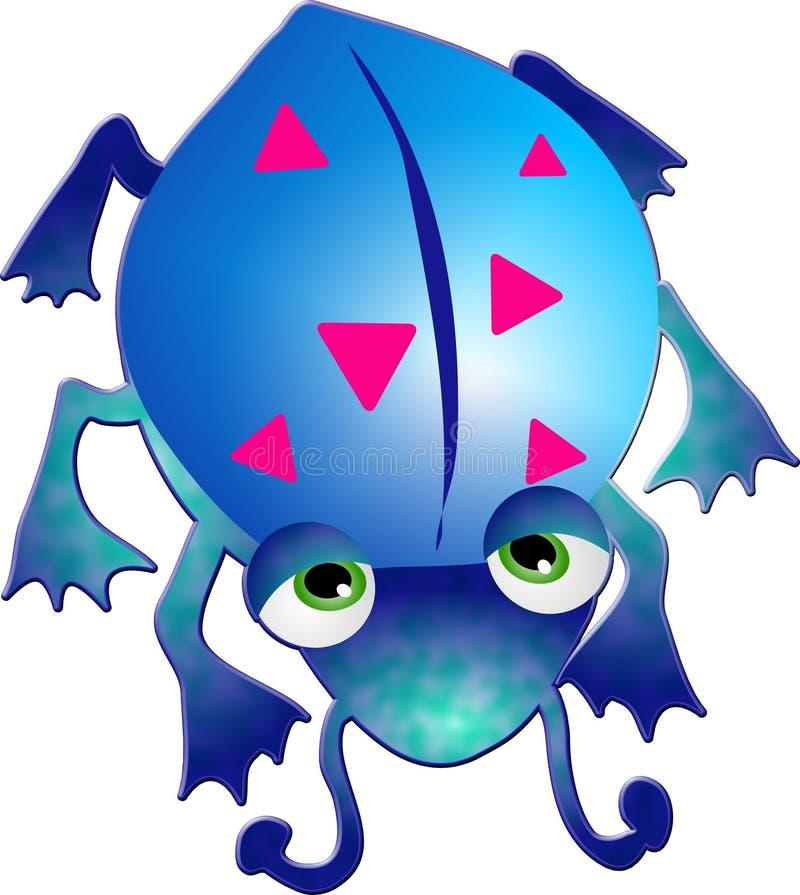 Blue Bug. Illustration royalty free illustration