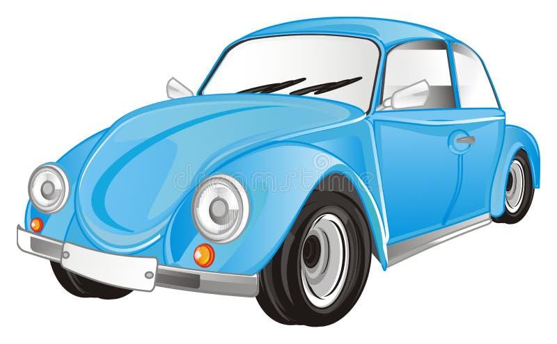 Blue bug car royalty free illustration
