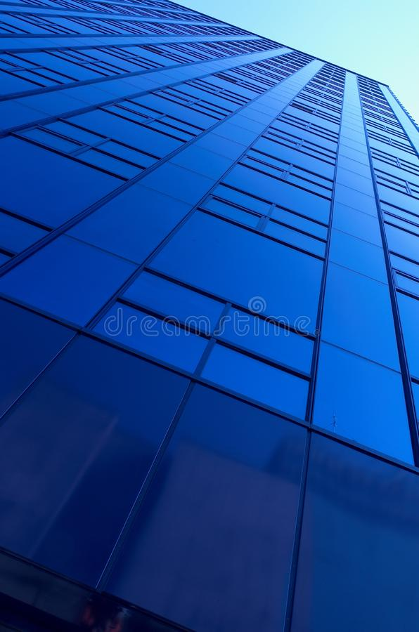 Blue building stock photography